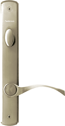 Hinged Patio Door Hardware in Canvas
