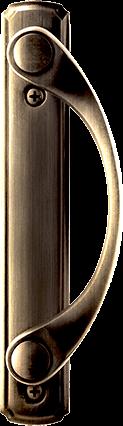 Sliding Patio Door Hardware in Antique Brass