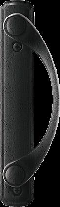 Sliding Patio Door Hardware in Distressed Nickel