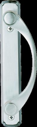 Sliding Patio Door Hardware in Satin Nickel