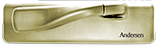 Casement window hardware in bright brass