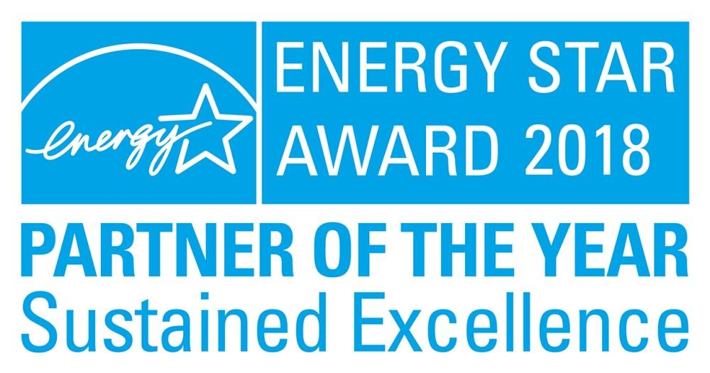 Energy Star Partner of the Year award 2018 Sustained Excellence