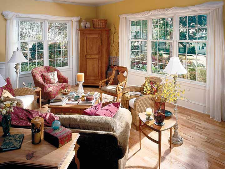 Cottage style double hung windows