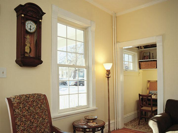 White double hung & awning windows