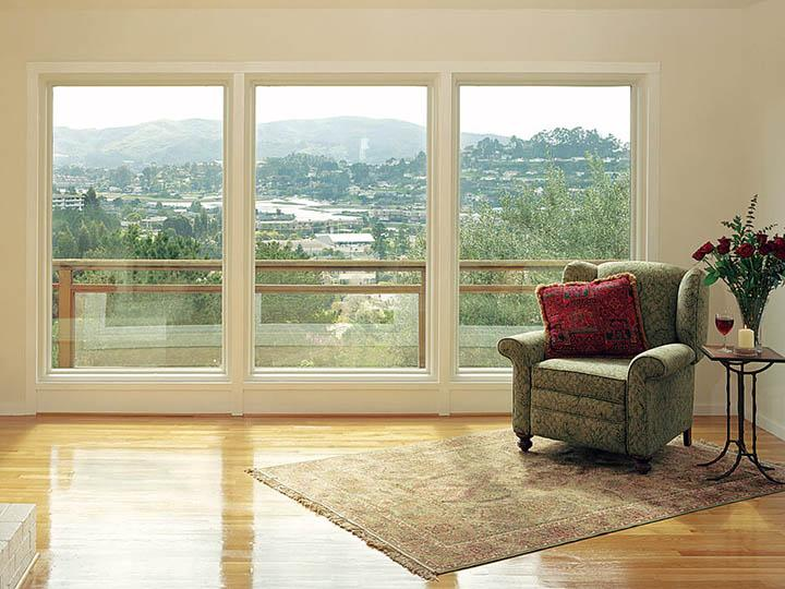 3 large canvas colored picture windows