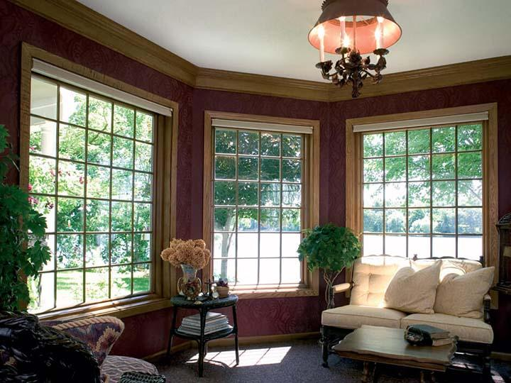 Wood Interior picture window grilles