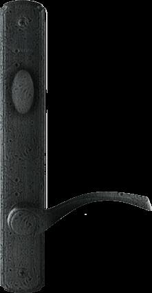 Hinged Patio Door Hardware in Distressed Nickel