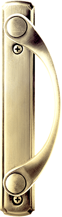 Sliding Patio Door Hardware in Bright Brass
