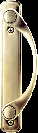 Sliding Patio Door Hardware in Bright Brass