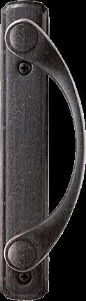 Sliding Patio Door Hardware in Distressed Bronze